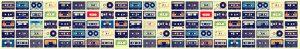 Cassette format 305 x 50 Kitchen Splashback