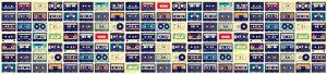 Cassette format 305 x 70 Kitchen Splashback