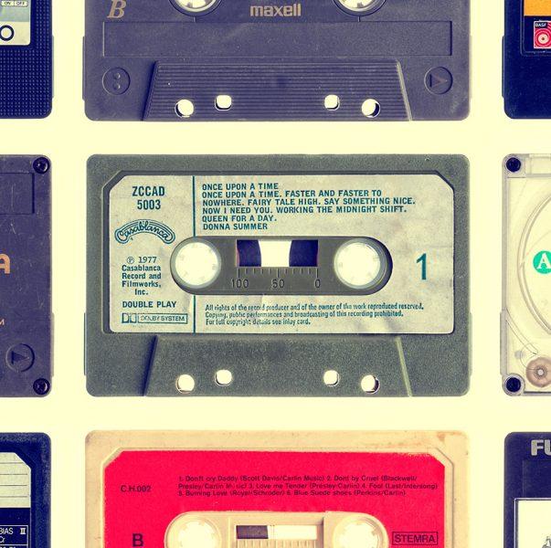 Vintage Cassette - keuken achterwand