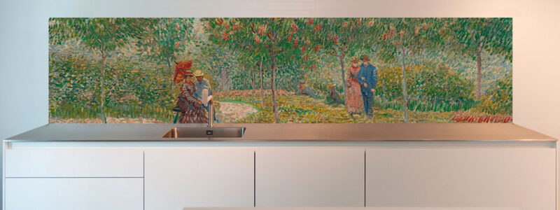 van Gogh Garden with Courting Couples splash back