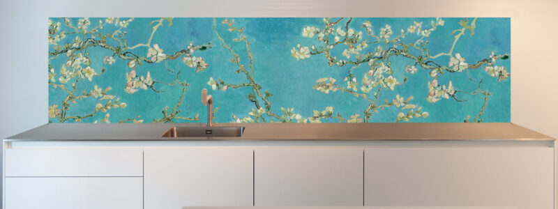 Designs for kitchen splashback - Almond Blossom by van Gogh