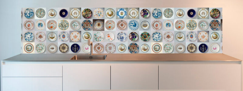 Ideas for kitchen antique plates splashback design