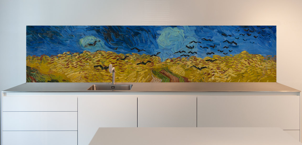 Wheatfield with Crows, backsplashes for kitchens