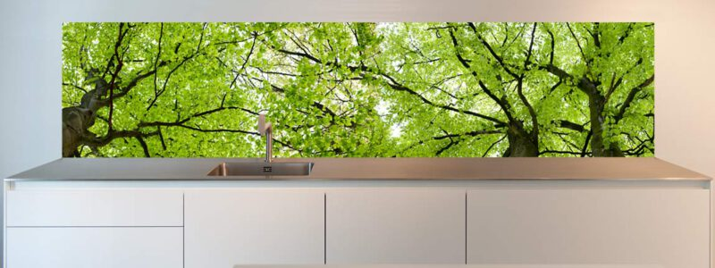 design kitchen splashback Trees