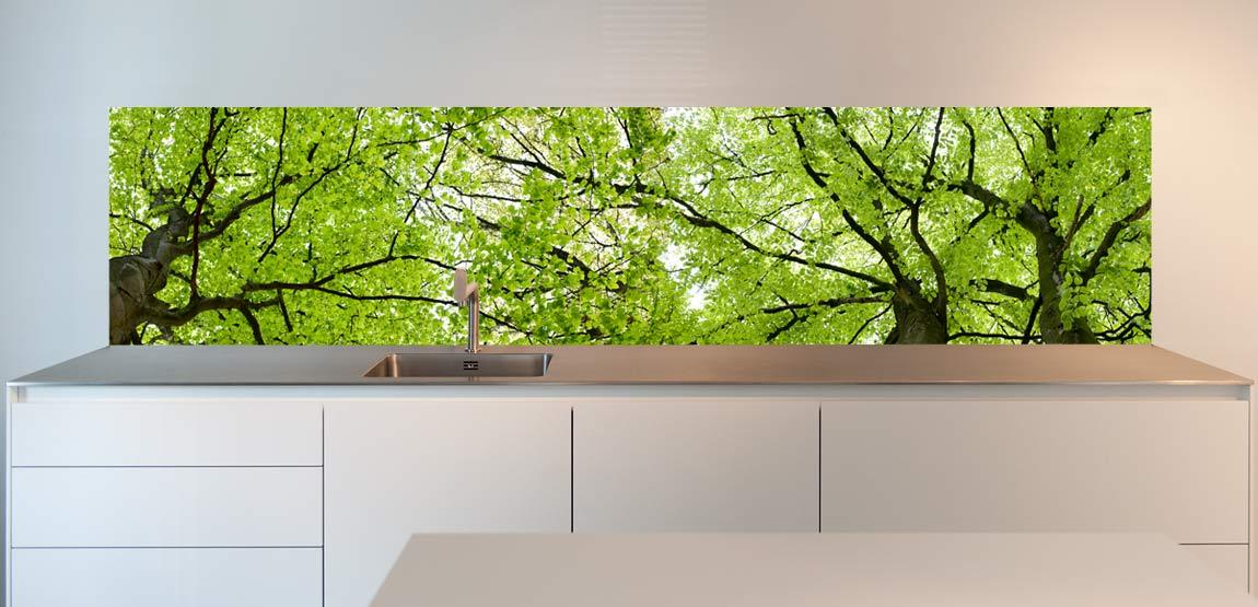 design kitchen splashback Trees