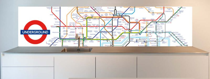 Tube design for kitchen back wall