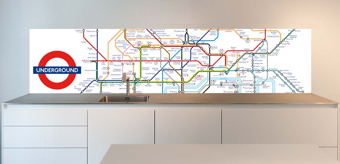 Tube design for kitchen back wall
