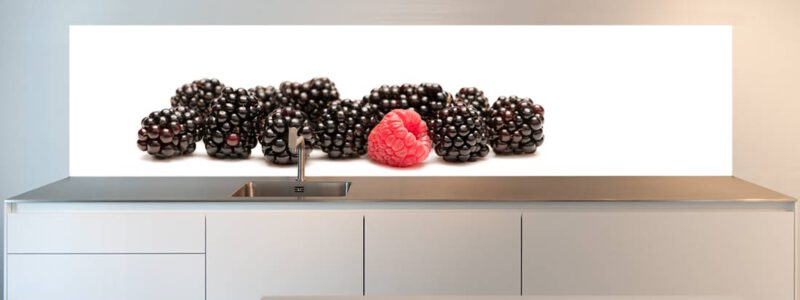 Blackberries splash back for kitchens
