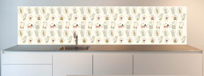 Coffee Tea Pots splashback design