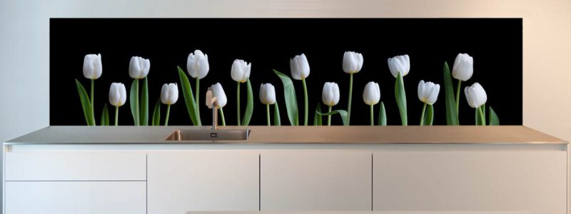 Spatwand met Tulpen voor de keuken
