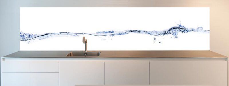 "Splash back for your kitchen; ""Waterline"" design"
