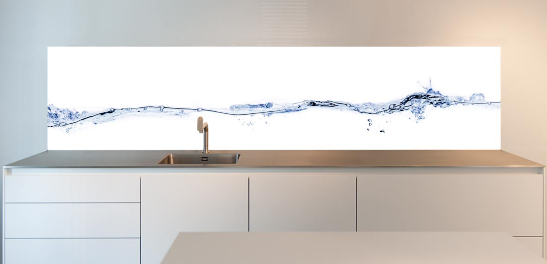"Splash back for your kitchen; ""Waterline"" design"