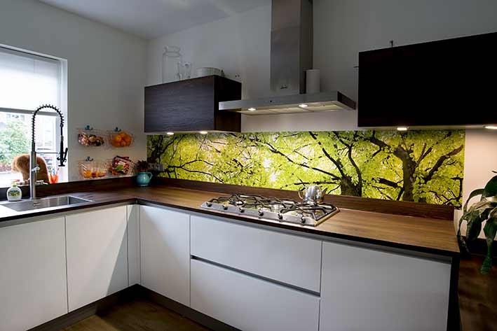 keuken achterwand foto bij Rosa