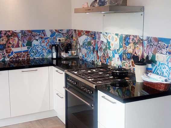 keuken achterwand bij Wilco