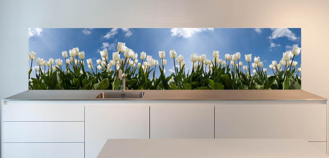 keuken achterwand tulpen