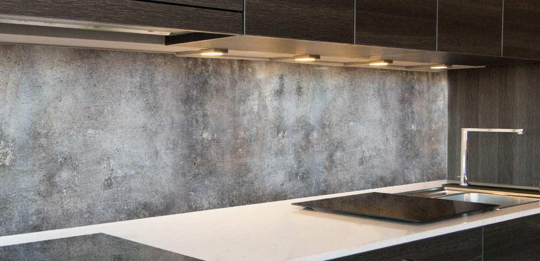 keuken achterwand beton