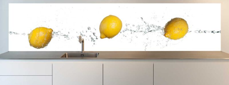 keukenachterwand citroenen