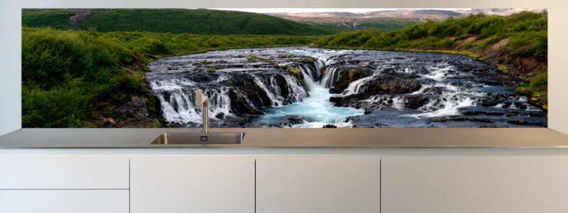 keuken achterwand waterval