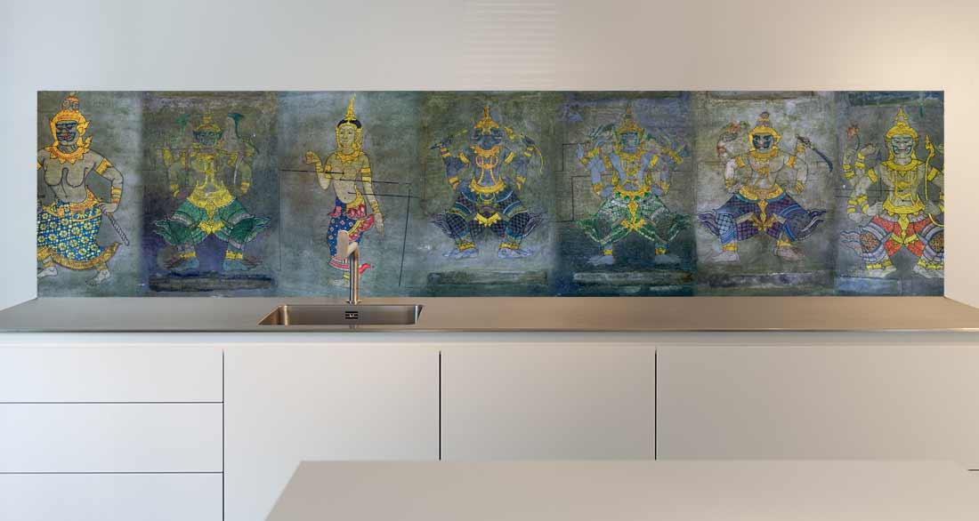 keuken achterwand Buddhist Wall
