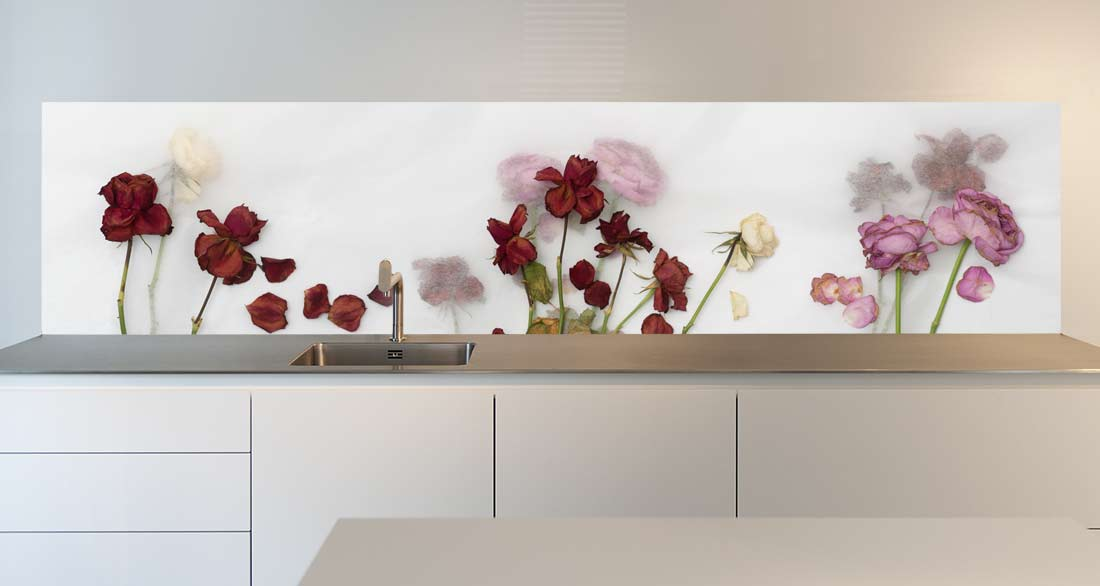 keuken achterwand rozen