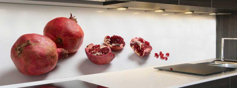 Keuken achterwand granaatappel