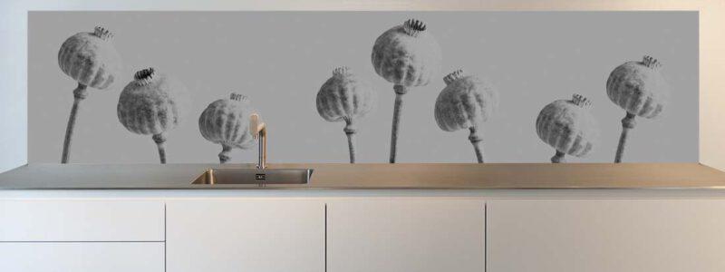 Keuken achterwand papaver ART
