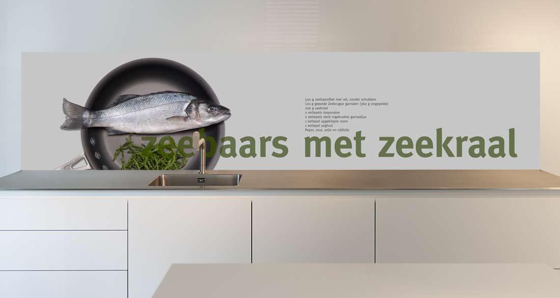 keuken achterwand Zeebaars