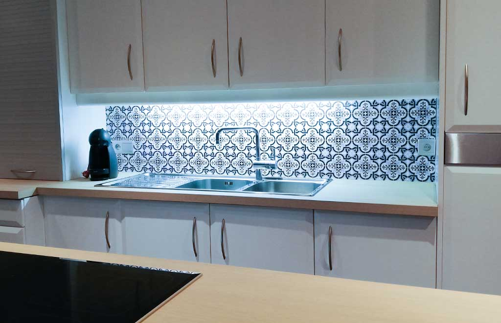 Keuken achterwand Portugese tegels