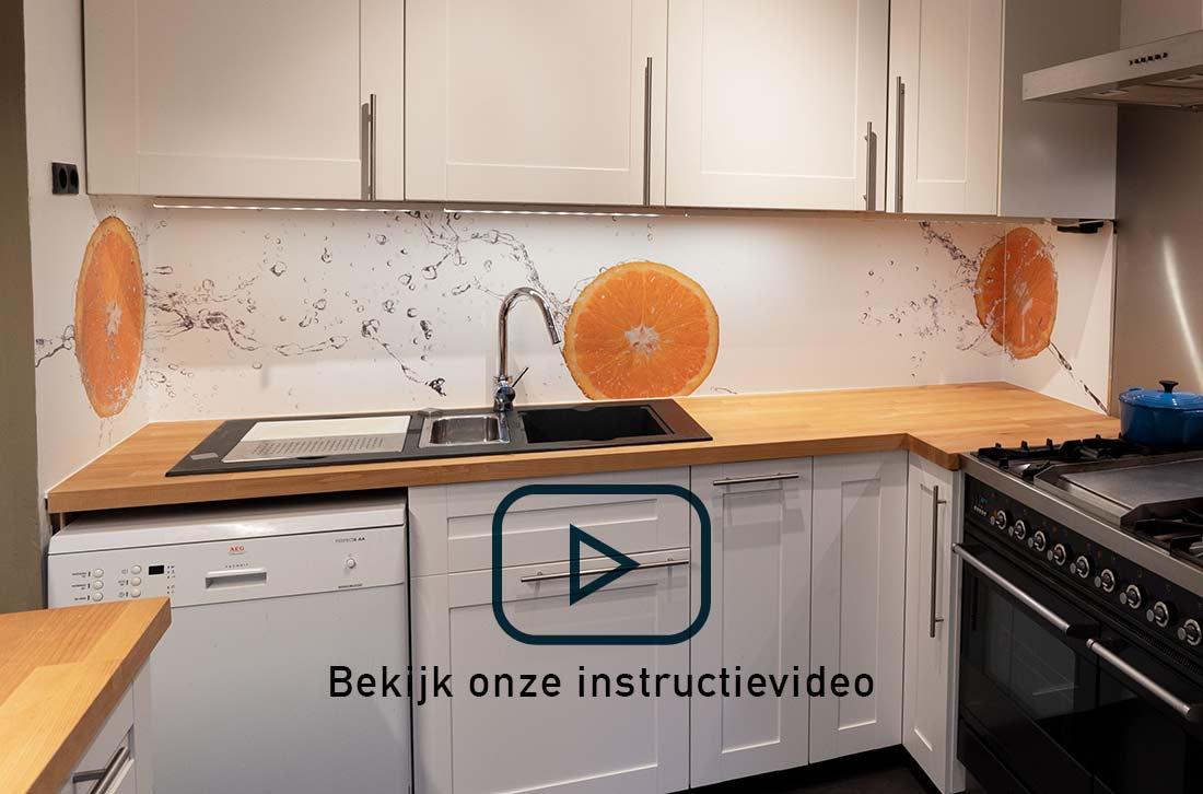 aanbrengen keuken achterwand