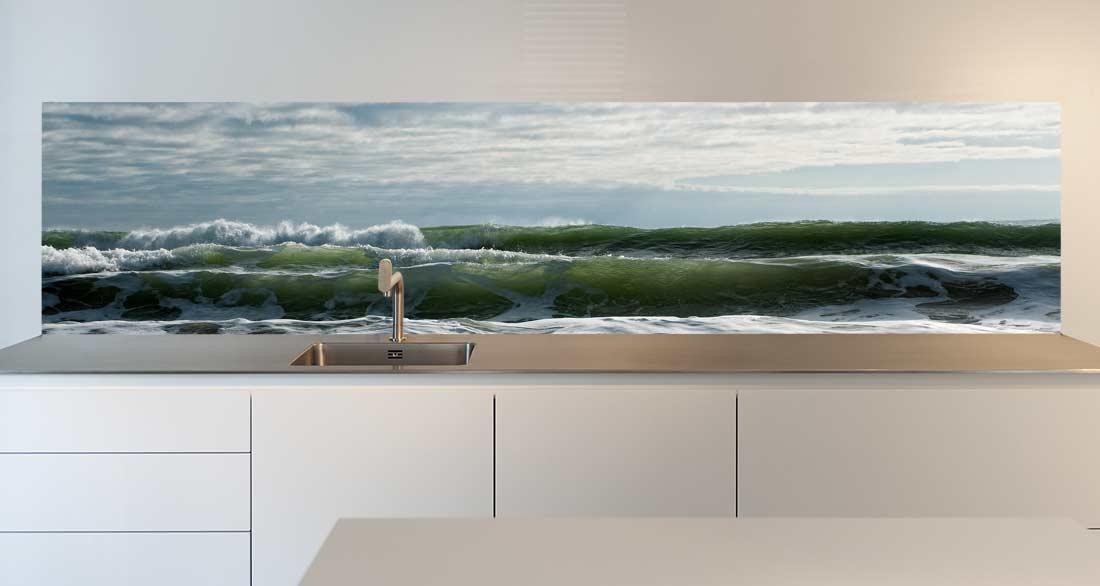 keuken achterwand Waves