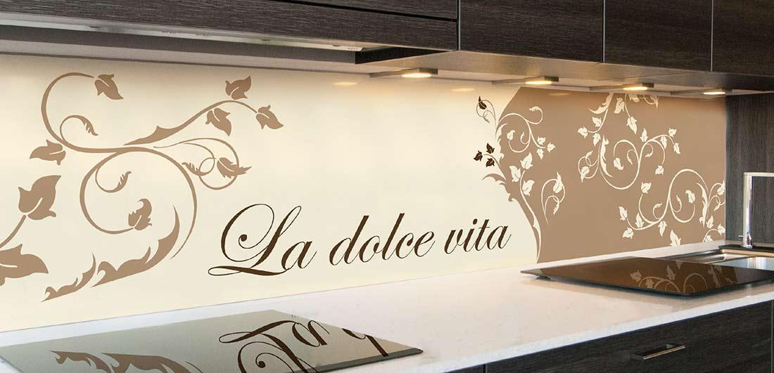 keuken spatwand La Dolce Vita