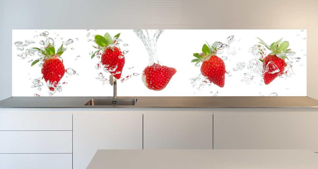 keuken spatwand Strawberry