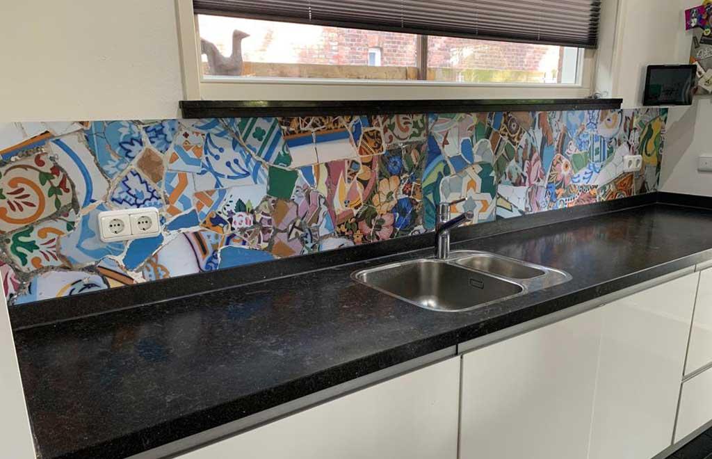 Keuken achterwand van SoWhat-design met mozaïek afbeelding