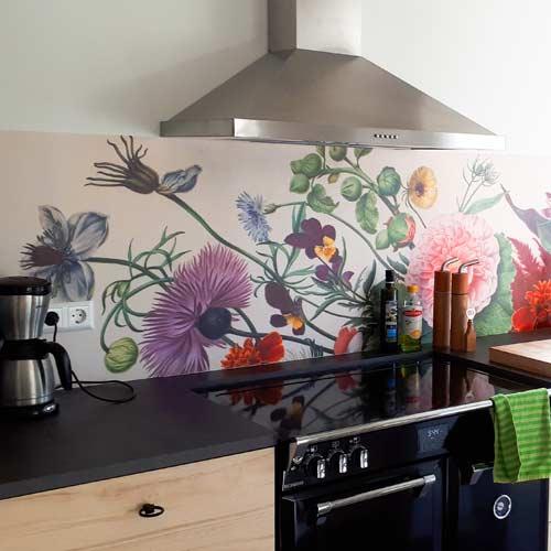 Bloemen op je keuken achterwand